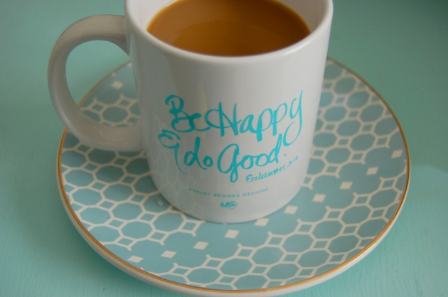 coffee-mug-ashley-brooke-designs-turquoise-be-happy-vandi-fair-decorating-interiors-blog-fashion-blogger